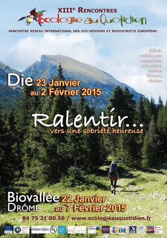 Affiche Ecologie au Quotidien 2015  11 12 14