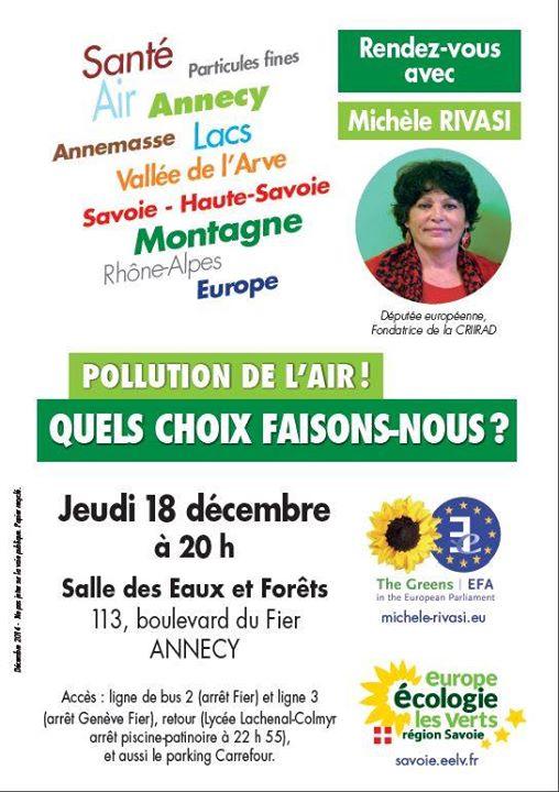 Annecy Pollution de l'air 18 décmebre